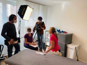 Dreharbeiten in der Physiopraxis PhysMed München
